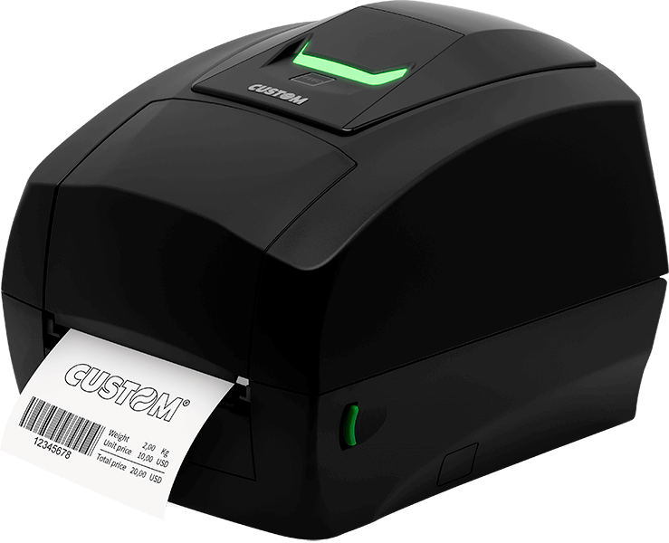 Side of the D4 102 Custom Label Printer