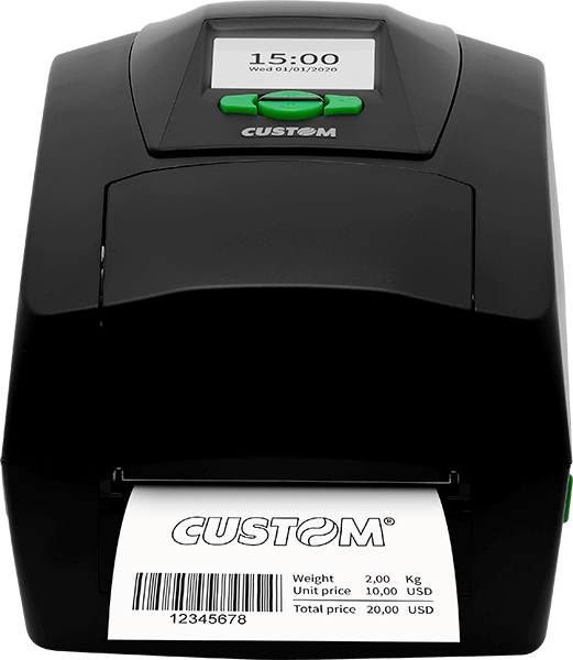 Front view of the D4 202 Custom Label Printer