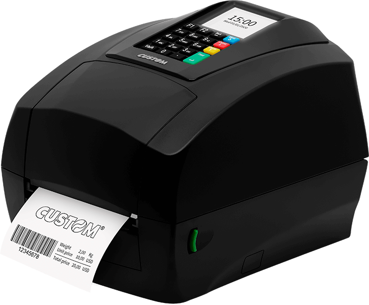 Side of the D4 202 Custom Label Printer